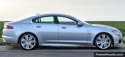 Jaguar XFR side profile**