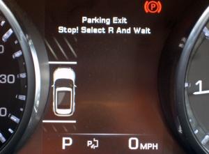 Range Rover Evoque Park Assist - Exit
