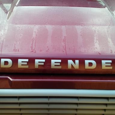 LR Defender lettering