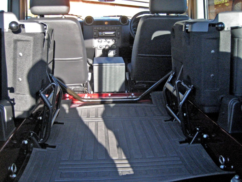 LR Defender rear seats fold