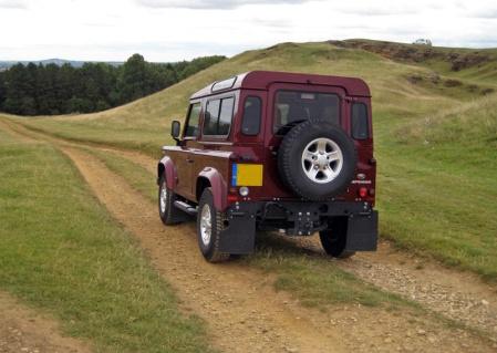 LR Defender rear 3q