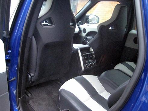 SVR Rear seat view