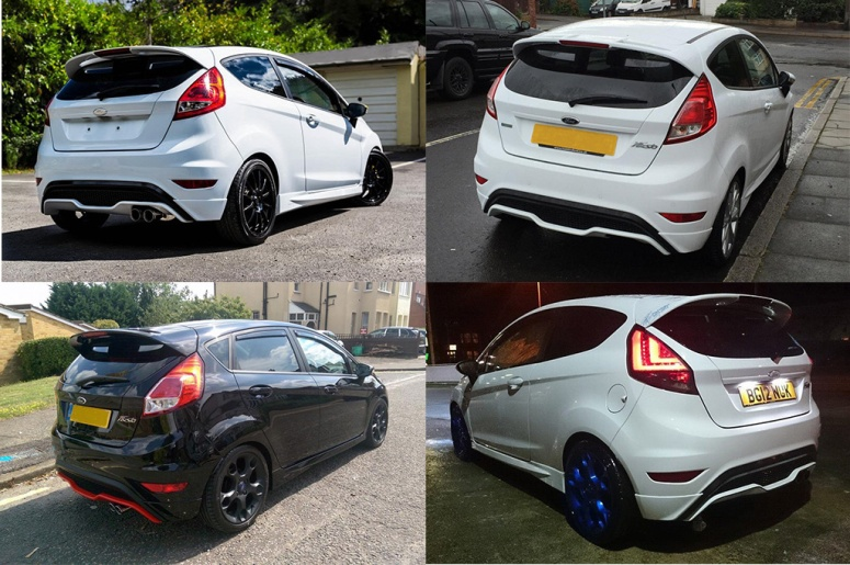 Ford Fiesta ST diffuser on Zetec S mod
