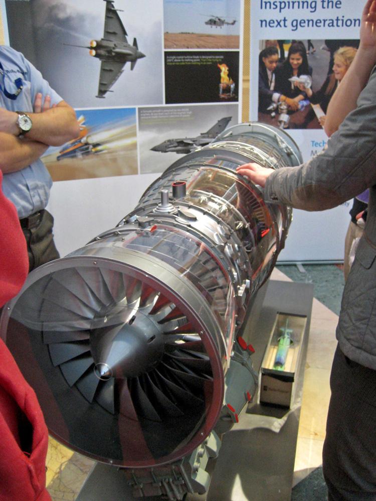 Bloodhound Jet engine model
