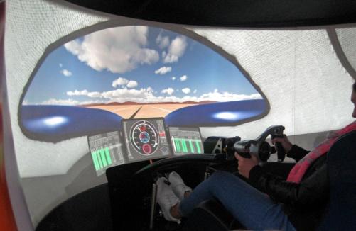Bloodhound Castrol simulator 2