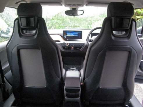 BMW i3 front seatbacks