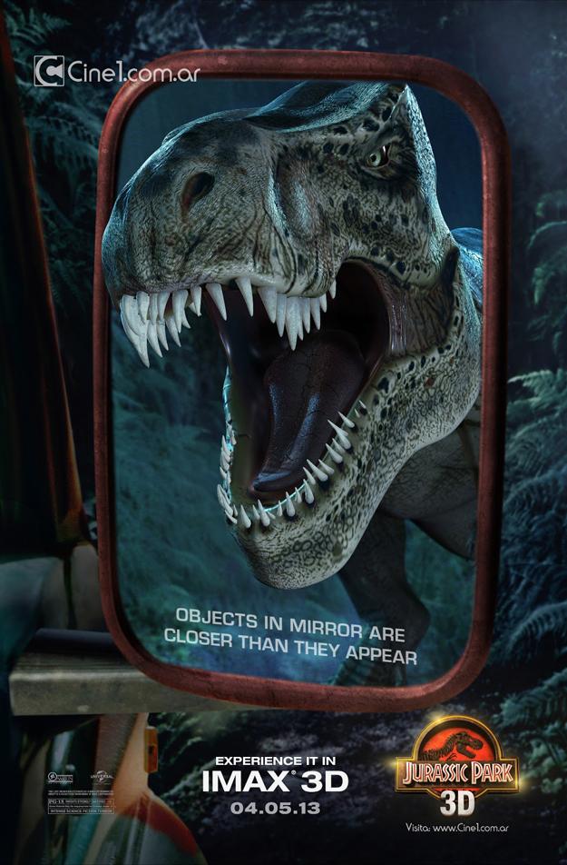 LR Defender Jurassic-Park-t-rex mirror