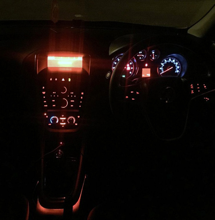 Vauxhall Astra Dash Night