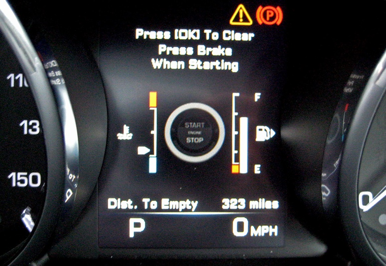 Range Rover Evoque start screen