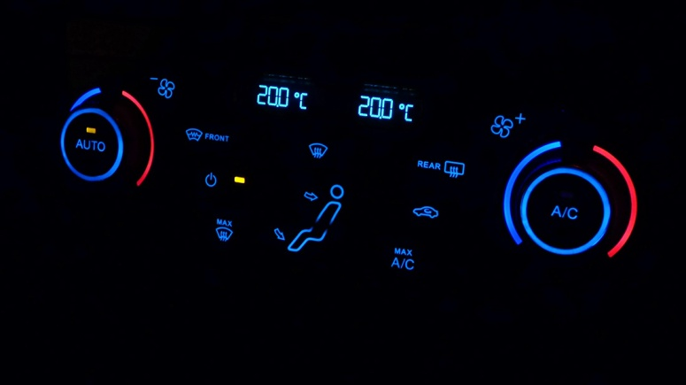 Ford Focus climate control system night