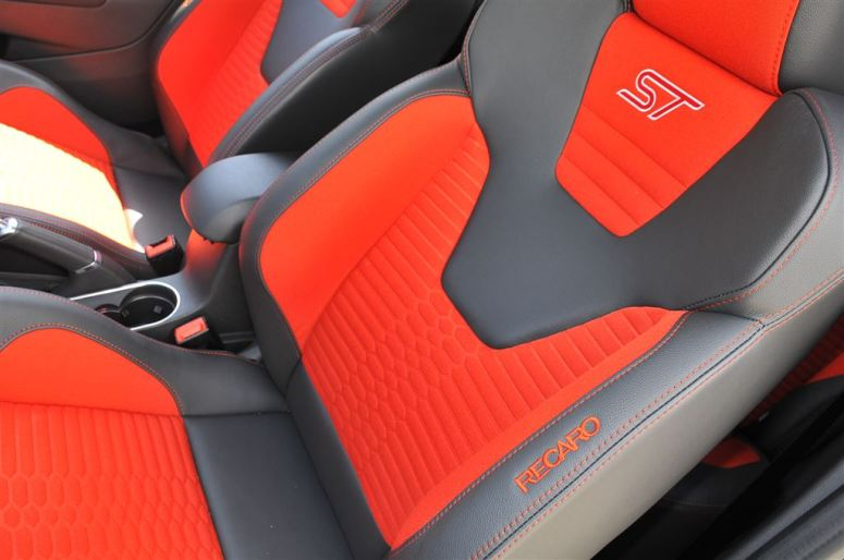 Ford Fiesta ST orange front seats