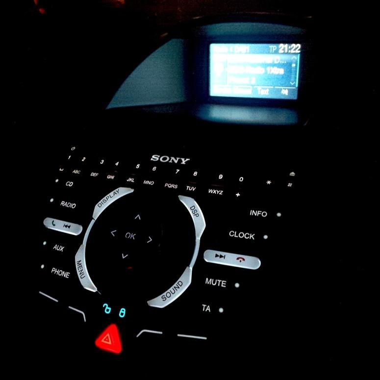 Ford Fiesta ST-2 Sony stereo non-sat-nav